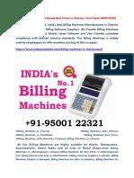 Billing Machines for Wholesale Best Prices in Chennai, Tamil Nadu - Jude Equipment Pvt Ltd 9500122321