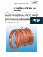 Copper Clad Steel Conductor as a cost effective alternative