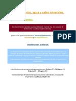 Tema 1- Bioelementos, Agua, Sales Minerales y Glúcidos.