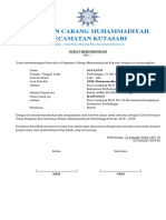 Contoh Rekomendasi Pimpinan Cabang Muhammadiyah