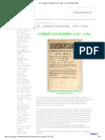 03 - Corse-cavalerie. 1757-1760 - La Corse Militaire