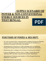 Demand & Supply Scenario of Power & Non-Conventional Energy Sources in West Bengal