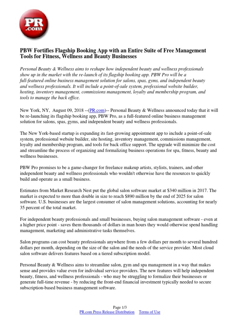 PBW Fortifies Flagship Booking App with an Entire Suite of
