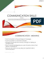 Communication Skills - Module 1 - PDF (1)