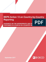 Beps Action 13 on Country by Country Reporting Appropriate Use of Information in CbC Reports