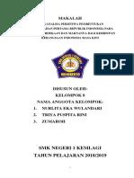 Makalah Menganalisa Peristiwa Embentukan Pemerintahan Pertama Republik Indonesia