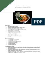 5 Jenis Makanan Internasional