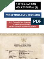Prinsip Kebijakan Dan Manajemen Kesehatan (1), Prinsip Manajemen Kesehatan