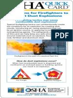 Dust Explot Fire Fighting