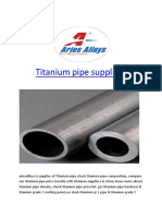 Titanium pipe suppliers