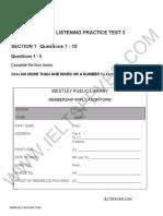 Ielts Fever Listening Practice Test 3 PDF