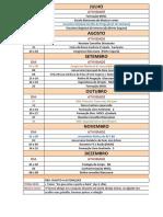 Calendario RCC  2° sem 2018