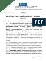 Anexo Viii - Diretrizes Para Elaboração Das Propostas Técnica e Critérios de Julgamento