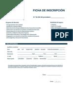 Ficha de Inscripcion Posgrado