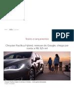 Chrysler Pacifica_ Híbrida, Semi-Autônoma e Para Sete Pessoas