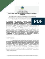 PROGRAMA NOVO MAIS EDUCAÇÃO NO MUNICÍPIO DE PINDORETAMA