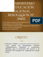 PAE MINISTERIO DE EDUCACIÓN NACIONAL RESOLUCIÓN N°