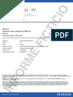 Ejemplo (Ficticio ) de Informe Automatizdo del MCMI-IV
