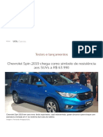 Chevrolet Spin 2019 chega como símbolo de resistência aos SUVs a R$ 63.990