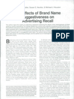 The Effects of Brand Name Suggestiveness on Advertising Recall.