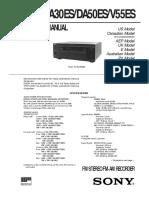 Hfe Sony Str-da30es Da50es v55es Service
