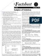 Enthalpies of Solution