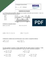 Sistemas de Equações 7º Ano