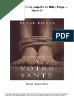 Télécharger Livre Gratuit a Votre Santé (Une Enquête de Riley Paige — Tome 6) (PDF - EPub - Mobi) Auteur Blake Pierce