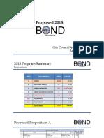 City of Corpus Christi Bond 2018 Presentation Proposal