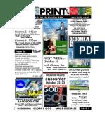 October 3 2010 Newsletter