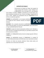 Contrato de Trabajo - Emp. Avicola