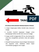 Petunjuk Keselamatan Menggunakan Tangga (2 Kali) Poster