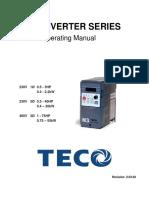 Manual Variador TECO