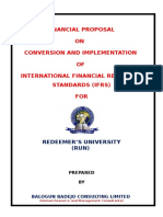 Ifrs Financial Proposal & Implementation - Redeemer's University