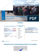 WFP actions at the border with Venezuela