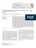 An Analysis of Possibilities for the Establishment of a Multipurpose And