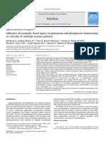 Influence of Traumatic Brain Injury on Potassium and Phosphorus Homeostasis