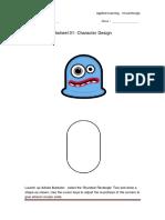 worksheet 01- character design