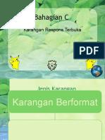 KARANGAN RESPONS TERBUKA