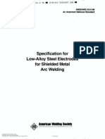 AWS A5.5-96 Specification for Low Alloy Steel Electrodes for Shielded Metal Arc Welding