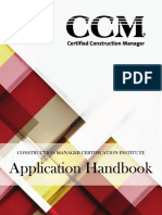 CCM Application Handbook