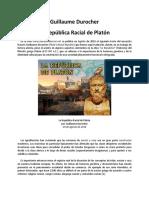 Guillaume Durocher - La República Racial de Platón