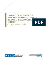 Doubt in Favour of the Defendant, Guilty Beyond Reasonable Doubt - Comparative Study-OSCE