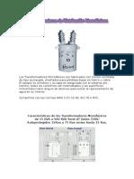 Transformadores de Distribucion Monofasicos