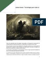 Túneles Lectura A) Excavaciones subterráneas