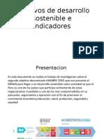 Objetivos de Desarrollo Sostenible e Indicadores