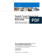 Parabolic Trough Collector Cost Update for System Advisor Model