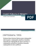 CHAVE PÚBLICA E PRIVADA