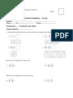 Prueba de Matematica 4º Basico Fila B