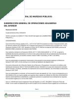 Resolución de AFIP que habilita depósito fiscal en San Pedro